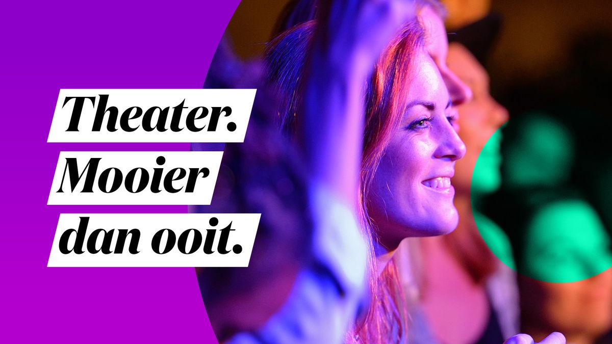 Spoffin steunt campagne: 'Theater. Mooier dan ooit'.